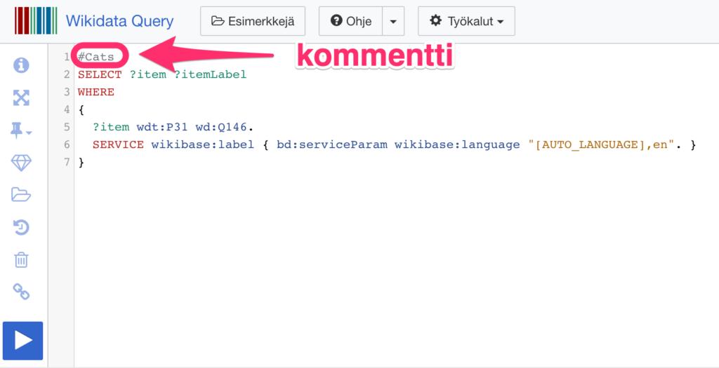 Wikidata Query Service kommentti
